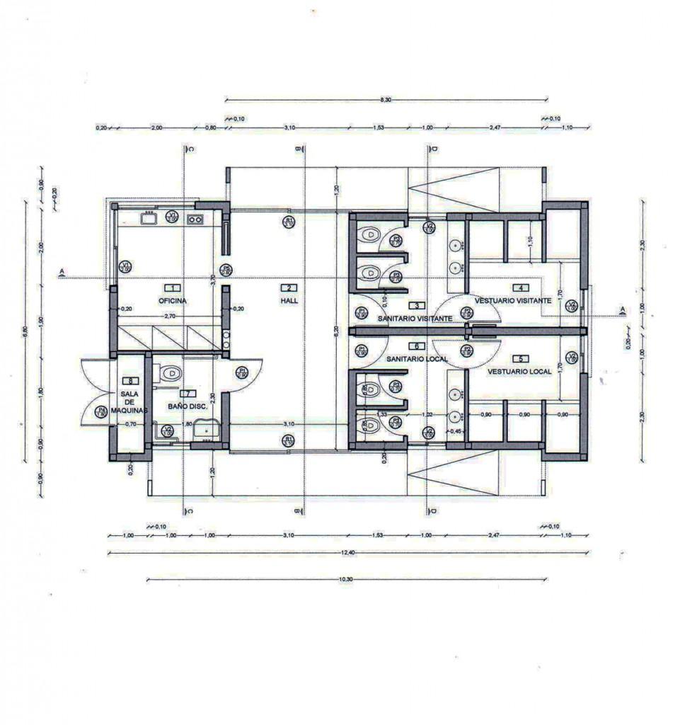 El plano del playón que el Municipio planea construir